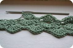 Fan stitch belt ~ free pattern, imagine as belt, blanket, collar, jewelry, wrist warmers - beautiful pattern.