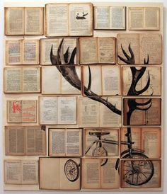 Ekaterina Panikanova book painting of a bicycle