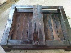 my own pallet coffee table