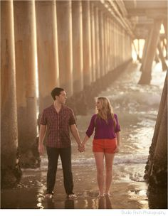 Venice Engagement shoot under the pier by Studio Finch Photography