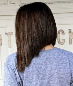 Dark Brown Inverted Bob Haircuts