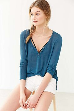 BDG Grace Henley Top- Urban Outfitters
