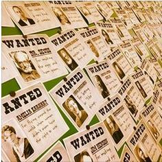 Covering the wall with 100 WANTED posters of people who changed the world by doing things differently.