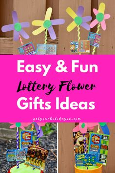 Easy DIY Mother's Day Gift Idea  If you're looking for a simple and fun way to give a gift. This is a great idea! Apot of lottery flowers.This is super easy to make and a greatDIY Lottery Ticket Flower Arrangement Gift Basket Idea. This is perfect for aDIY Mother's Day Gift Idea, Birthday Gift [...]