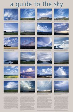 Delta Education Cloud Type Poster measuring 25 in L x 38 in W is most often used by weather enthusiasts. It is a beautifully photographed wall chart that shows the cloud types and it comes laminated. Earth And Space Science, Earth From Space, Science And Nature, Weather Science, Weather And Climate, Cloud Type, Weather Cloud, Human Body Systems, Type Posters
