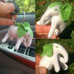 Personalised charms for Handbags -brooch- felt elephant key chains -bag decor-bag charm- bag pendant- hanging decor key charm-ready to ship - Babyelephants - Geschenke Personalized Charms, Montessori Toys, Beautiful Gifts, Gifts For Boys, Felt Crafts, Homemade Gifts, Cute Gifts, Wool Felt, Stuffed Elephant