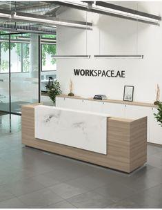 Venido Wooden Contemporary Reception Desk