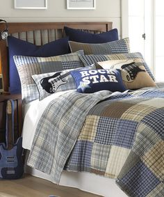 Look at this Rock On Quilt Set on #zulily today!