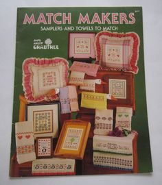 Counted Cross Stitch Patterns Samplers and Matching Towels Match Makers