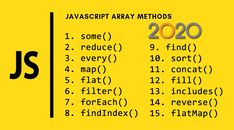 In this JavaScript Array tutorial, we're going to see 15 array methods that can help you manipulate your data properly: some; Computer Programming, Computer Science, Javascript Cheat Sheet, Learn Html, Computer Basics, Writing Words, Digital Marketing Strategy, Web Development, Design Web