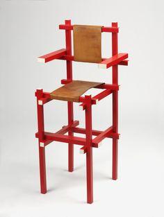 23: Child's High Chair. Gerrit Thomas Rietveld