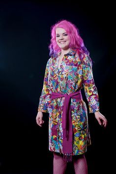 Psychedelic Lab Coat Dress by RifterWear on Etsy, $85.00  I am so happy with how this item came out! I love buttons and pockets and this dress has plenty of both!