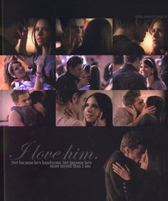 I want a man to love me like Stefan loves Elena <3