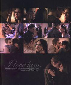 I want a man to love me like Stefan loves Elena <3