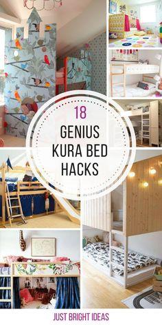 "Terrific Cost-Free 18 Amazing KURA Bed Hacks to Turn a Boring Bed into Something Special! Thoughts Preiswert, Kleinkind-freundlich und erstaunlich anpassungsfähig, IKEA 's üblich ""KURA"" kann Cama Ikea Kura, Ikea Bunk Bed Hack, Ikea Kura Hack, Ikea Hacks, Room Decor Bedroom, Girls Bedroom, Lego Bedroom, Childs Bedroom, Kid Bedrooms"