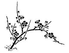stencil design cherry blossoms