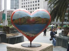 "One of the hearts in Union Square (right near our office!) ""Left my heart in San Francisco"""