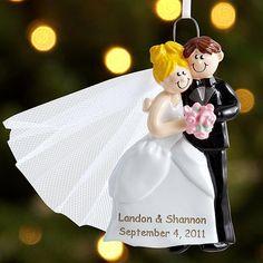 Cozy Wedding Couple Ornaments