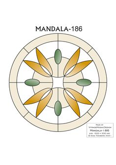 MANDALA-186 Stained glass pattern, Mosaic pattern, Painting glass pattern, to DOWNLOAD PDF, Suncatcher, Window panel, Window handing ויטראז by VitrageMosaicDesign on Etsy