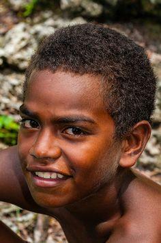 Kanak (Melanesian) boy, Island of Mare, Loyalty Islands, New Caledonia