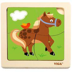 Lovacskás puzzle kicsiknek 4 db-os | Pandatanoda.hu Játék webáruház