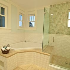 """corner Bathtub"" Design, Pictures, Remodel, Decor and Ideas - page 2 Master Bath Remodel, Diy Bathroom Remodel, Bathroom Renos, Bathroom Ideas, Simple Bathroom, Bathroom Layout, Bathroom Renovations, Bathroom Interior, Modern Bathroom"
