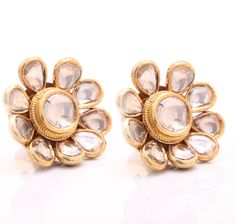 Polki Earrings - exquisite and one-of-a-kind design.