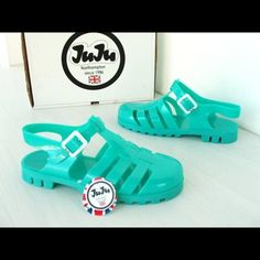 80ee16ddf0f1 JuJu Jelly Sandal - Turquoise JuJu Footwear Maxi Slingback Jelly Sandal -  Turquoise. Great condition