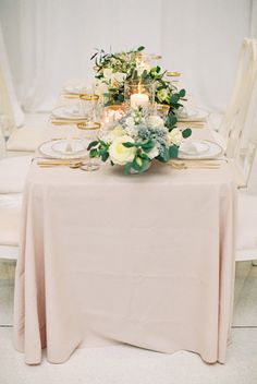 Blush Wedding Linen | photography by http://jamieraephoto.com