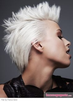 Chic Platinum Blonde Hair Color...I wish I could pull off white hair like this, but it looks horrible on me!