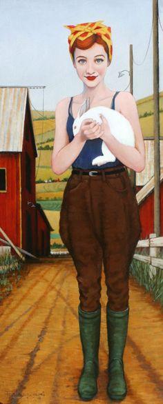 Barnyard Bunnies  -  Fred Calleri