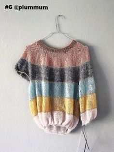 Önling - A Nordic design and yarn universe for great knitting projects Crochet Fabric, Knit Crochet, Hand Knitting, Knitting Patterns, Knitting Sweaters, Knitting Ideas, Fluffy Sweater, Crochet Woman, Ethical Clothing
