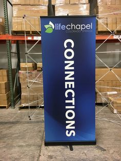 Life Chapel, Colorado Springs,CO uses deep dark colors with big white type to communicate.