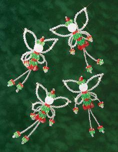 Holiday Beaded Ornament Kit - Christmas Fairies