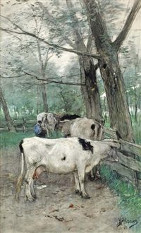 Milking time by Anton Mauve