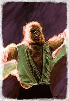 Fantastic art (Curse of the Werewolf by Jim McDermott) Horror Comics, Horror Films, Horror Art, Classic Monster Movies, Classic Monsters, Classic Movies, Bark At The Moon, Horror Monsters, Vampires And Werewolves