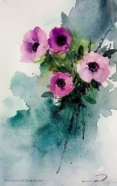 Wild rose by annemiek groenhout - Art & More - Watercolor Paintings For Beginners, Watercolor Projects, Watercolor Cards, Watercolor Print, Watercolor Flowers, Painting Inspiration, Painting & Drawing, Flower Art, Art Projects