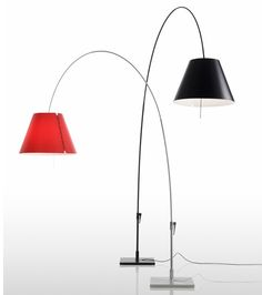Luceplan vloerlamp Lady Costanza rood