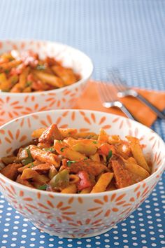 Paula Deen Sausage and Peppers Pasta