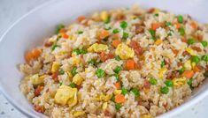 Riz frit avec thermomix, Un délicieux plat de riz aux légumes et saucisses pour votre dîner ou comme entrée de repas. testez ce délicieux riz frit thermomix