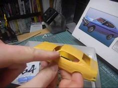 1:32 ARII 1970 Mitsubishi Galant GTO M2 plastic model build 1