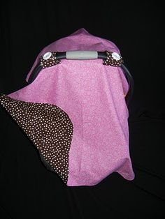 home-made car seat covers for the sleeping baby... so cute!