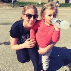 """A few weeks ago, I did the absolute unthinkable...  My husband asked if I wanted to run a 5K road race as a family.  I hadn't been doing any sort of regular training and definitely did not  feel in tip top shape, but got suckered in to it because there was a kid's  """"fun run"""" after the main race and the idea of seeing our girl sporting her  little number made me melt.  When the gun went off, the ENTIRE first mile was a slow uphill.  I tried to stay positive and chipper, but..."""