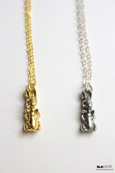 BLK AND NOIR JEWELRY - Peter Rabbit Charm Necklace, $15.00 (http://www.blkandnoir.com/peter-rabbit-charm-necklace/)