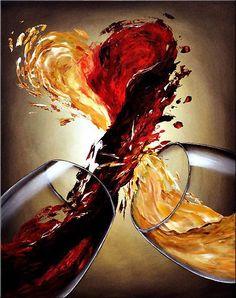 Calorias de uma taça de vinho, de acordo com enogastronomiadeclasse/Sonoma.    Um copo de 150 ml de vinho branco típico concentrado, contém cerca de 104 calorias, enquanto um tinto típico concentrado contém 110.  Vinhos que têm um leve toque de doçura, como alguns Rieslings, podem ter de cinco a dez calorias adicionais.Para comparar, a mesma quantidade de suco de uva tem praticamente o mesmo número de calorias: 102.
