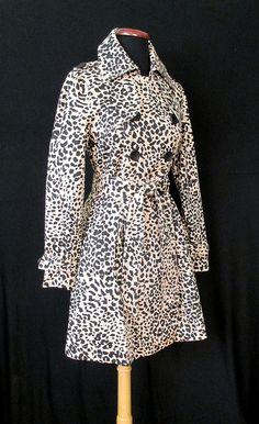 Super Spy Leopard Print Trench Coat