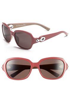 Women's Christian Dior 'Diorissimo 2' 56mm Sunglasses - Raspberry/ Beige