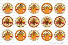 15 Turkey Pumpkins 1 Digital Download for 1 Bottle by MaddieZee, $1.25