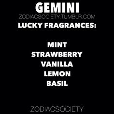 Fragrances that bring luck to gemini!
