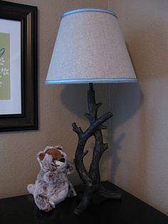 If we don't do a theme like this for the baby, I want this lamp in my livingroom! Woodland nursery theme: Twig lamp from Target. A different shade though. Nursery Themes, Room Themes, Nursery Decor, Nursery Ideas, Room Ideas, Forest Nursery, Woodland Nursery, Rustic Nursery, Baby Boy Rooms